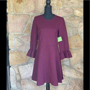 Kate Spade ruffle sleeve ponte dress size large
